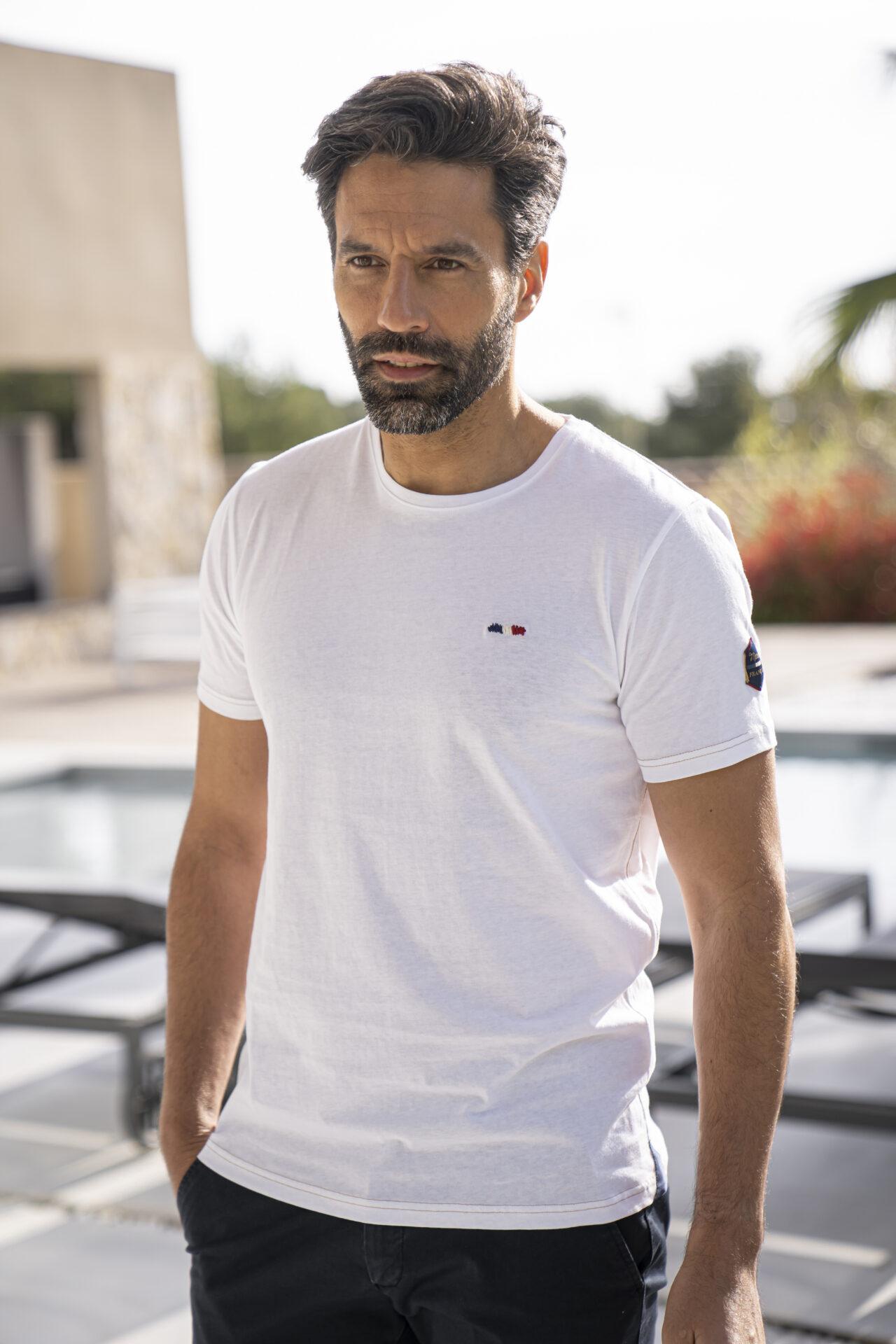 Tee-shirt-uni-blanc