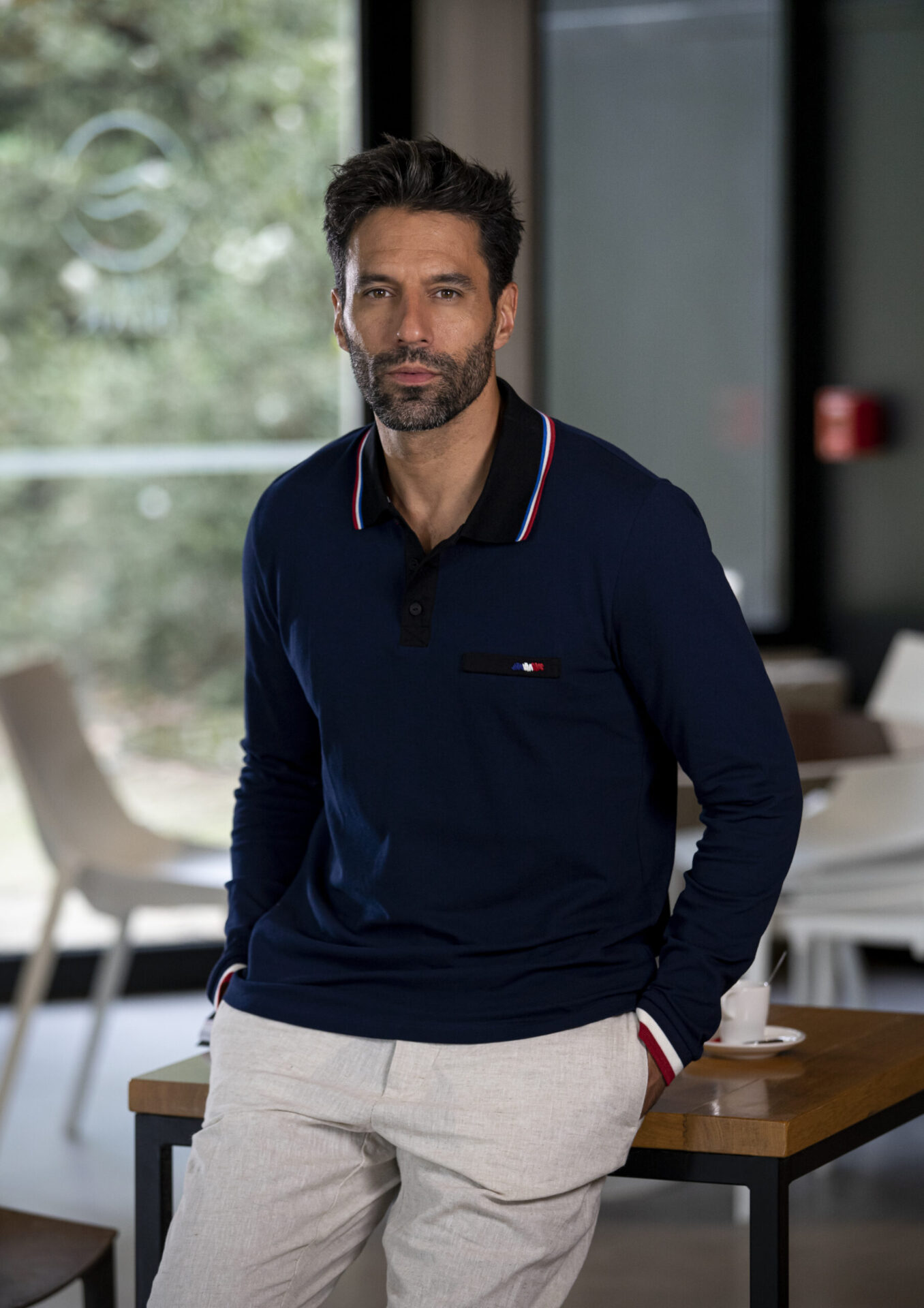 Polo manches longues hommes