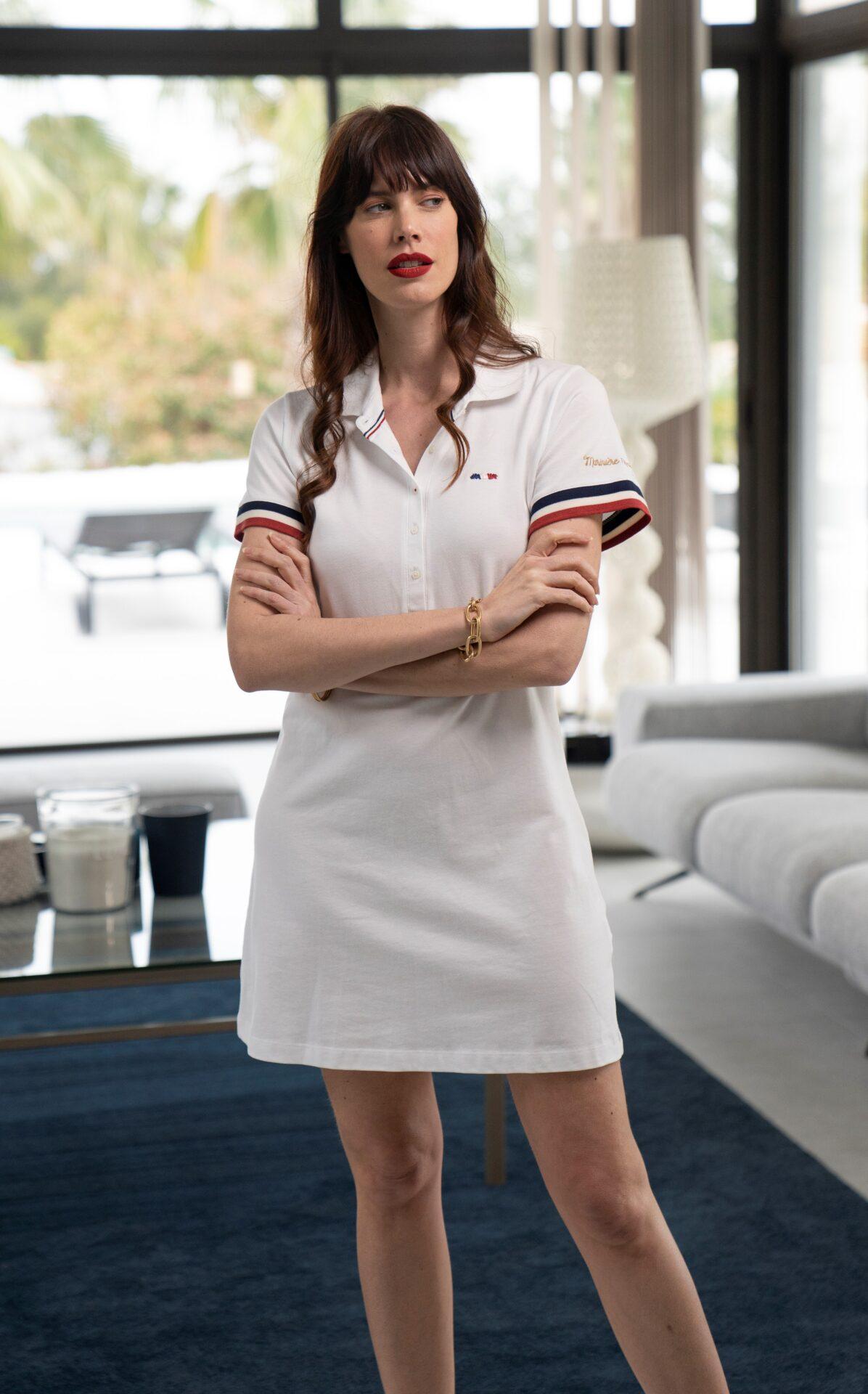 Robe blanche sportswear