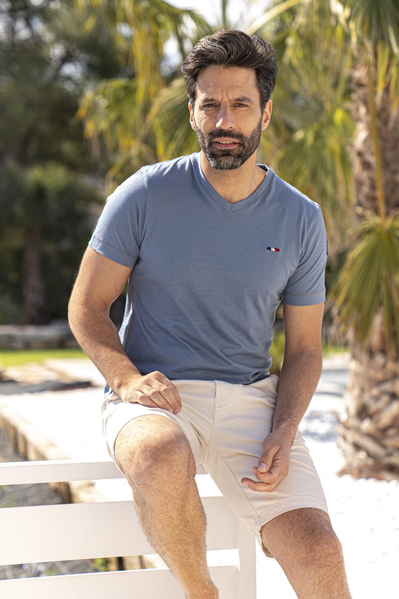 T-shirt-bleu-petrole-homme