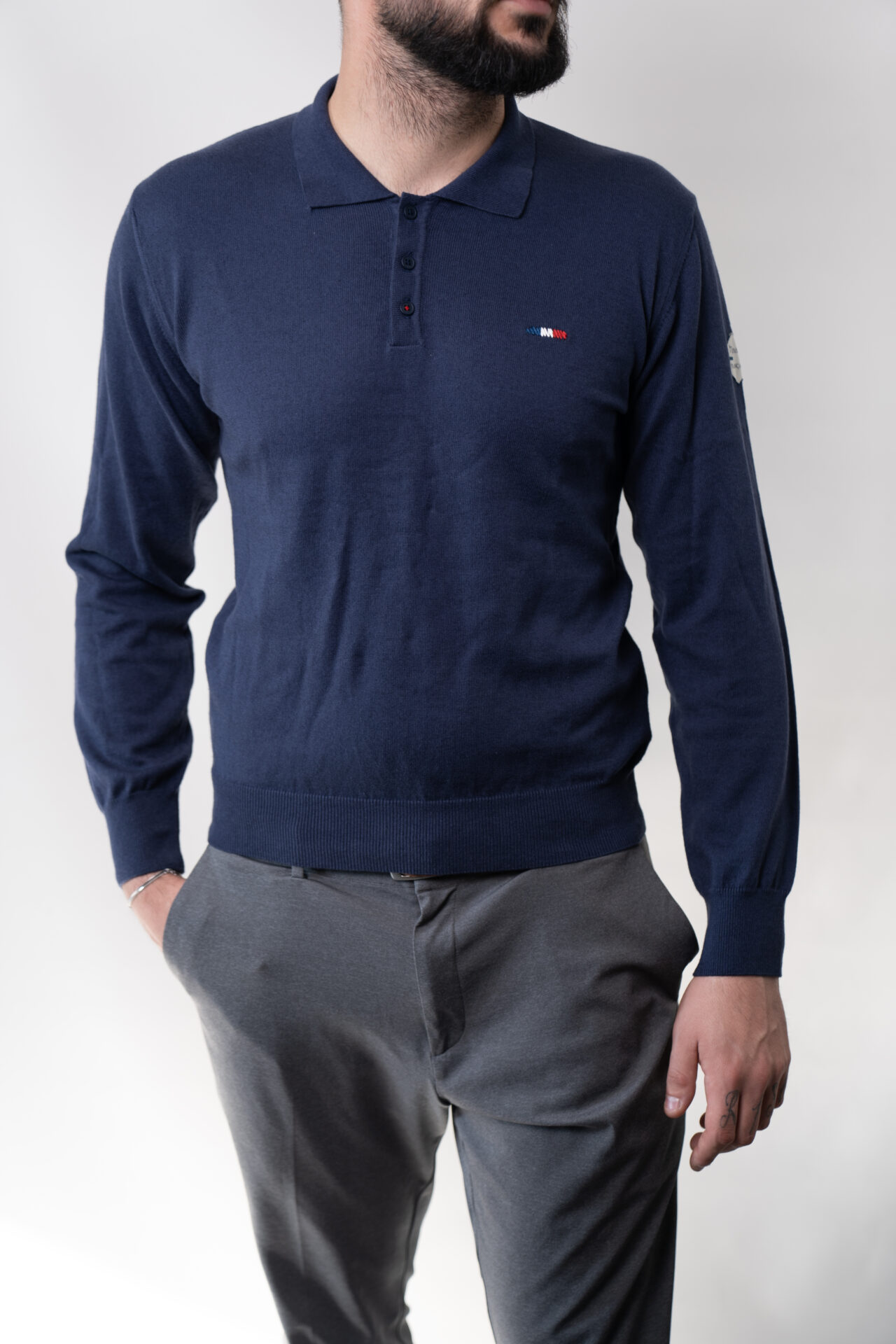 Pull polo homme